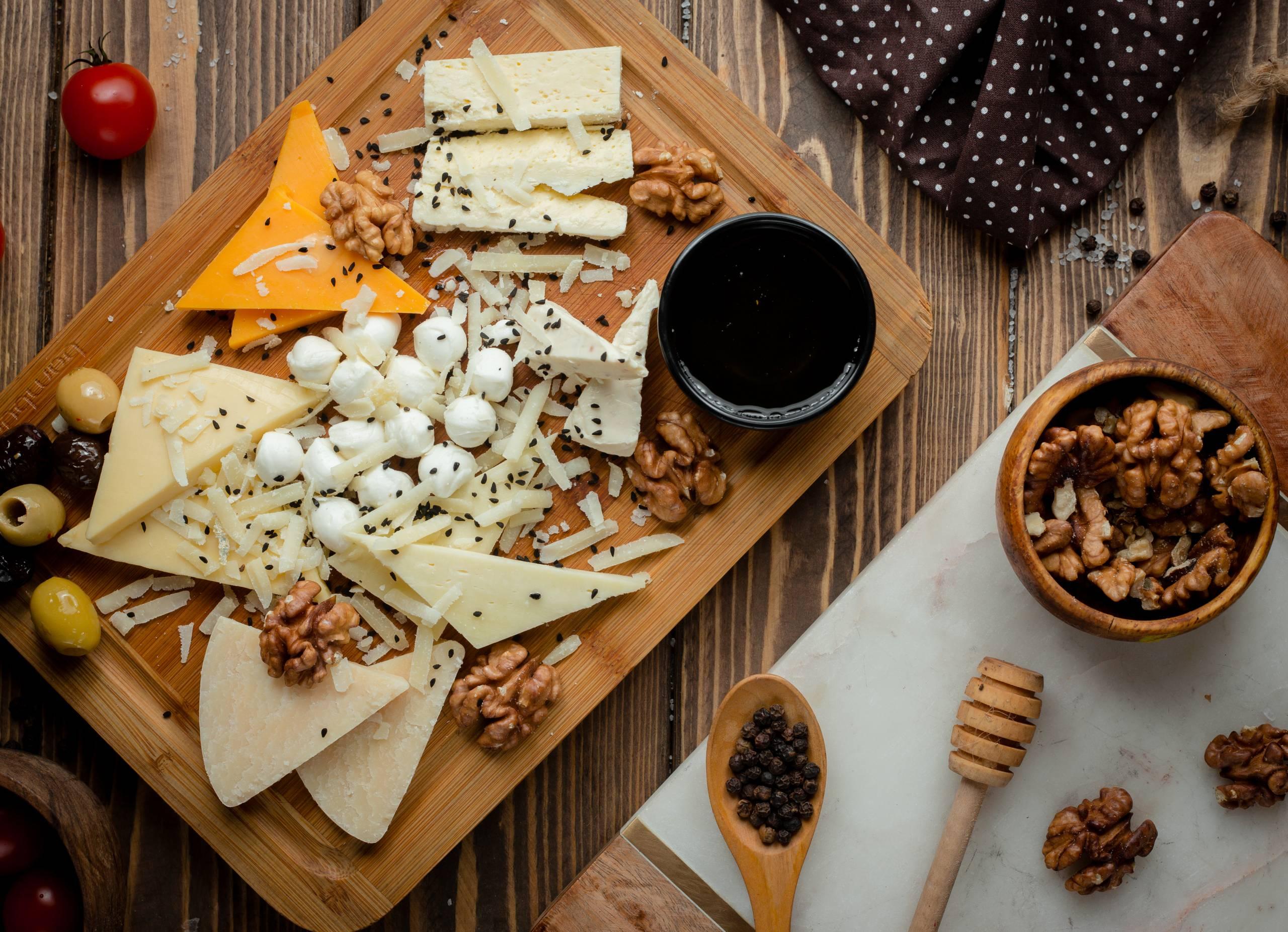 Tabla de quesos acompañamientos